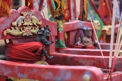 Affe-König Deity Statue auf Warenkorb Lizenzfreies Stockbild