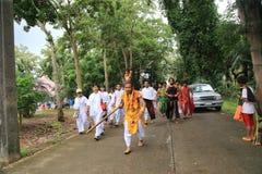 Affe-König Spiritual Medium auf der Straßen-Prozession Lizenzfreies Stockbild