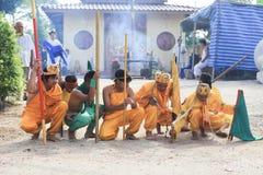 Affe-König Spiritual Medium beten für chinesischen Gott Stockbild