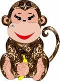 Affe mit einem Muster, Lizenzfreie Stockfotos