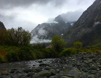 Affe-Nebenfluss und Berg Christina Lizenzfreies Stockfoto