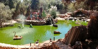 Affe-Park in Yodfat Lizenzfreie Stockbilder