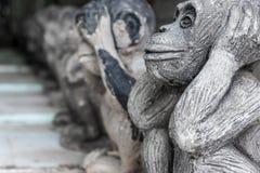 Affe-Statue Lizenzfreies Stockfoto