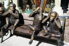 Affe-Statuen San Francisco Lizenzfreie Stockbilder