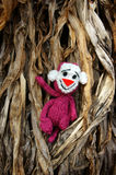 Affe, Symbol, intelligentes, handgemachtes, gestricktes Spielzeug Lizenzfreie Stockfotos