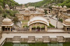 Affe-Tempel in Jaipur, Indien Lizenzfreies Stockfoto