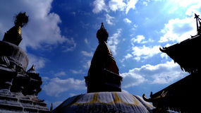Affe-Tempel Stupas Kathmandu, Nepal Julian Bound Lizenzfreies Stockbild