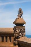 Affe in Uluwatu auf dem Rand Stockbild