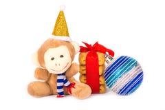 Affe- und Weihnachtsplätzchen Stockbild