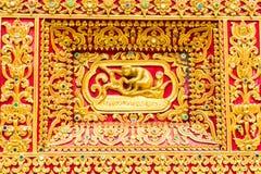 Affe-Wandskulptur im thailändischen Tempel Lizenzfreies Stockbild