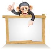 Affe-Zeichen Lizenzfreies Stockbild