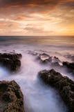 Affectation de l'horizontal du coucher du soleil photo stock