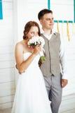 Affectation du moment du jour du mariage image libre de droits