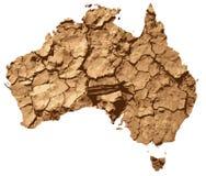 affected Australien torka Arkivfoton