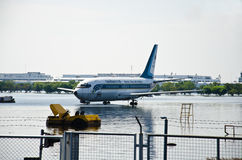 affected flygplatsdonmuangflod Arkivfoton
