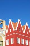 Affectez le Curaçao de construction colonial photo stock