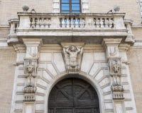 Affectez le saint Callisto de Palazzo d'entrée dans le saint Maria de Piazza dans Travestere, Rome, Italie image stock