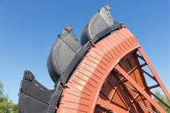 Affectez les mines de charbon de creusement Allemagne d'exploitation à ciel ouvert d'excavatrice de roue de seau photos libres de droits