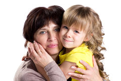 Affection grandmother and granddaughter Stock Photo