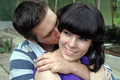 Affection and kiss Royalty Free Stock Photos