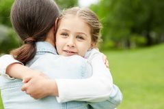 Affectionate child Royalty Free Stock Photos