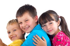 Affectionate children Stock Image