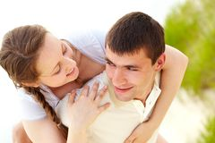 Affectionate couple Stock Images