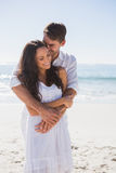 Affectionate couple cuddling Royalty Free Stock Photos