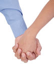 Affectionate couple holding hands Stock Image