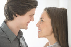 Affectionate Couple Looking At Each Other Royalty Free Stock Images