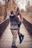 Affectionate couple in love Royalty Free Stock Photo