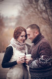 Affectionate couple in love Royalty Free Stock Image