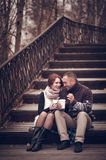 Affectionate couple in love Royalty Free Stock Photos