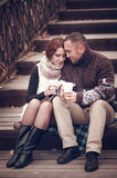 Affectionate couple in love Royalty Free Stock Images