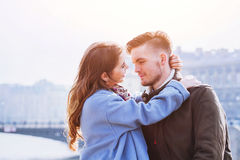 Affectionate couple, portrait Royalty Free Stock Images