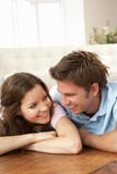 Affectionate Couple Relaxing At Home Together Royalty Free Stock Photography