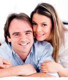 Affectionate couple smiling Royalty Free Stock Image
