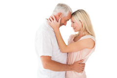 Affectionate couple standing and hugging Royalty Free Stock Photography