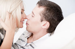Affectionate Couple About to Kiss Stock Photography