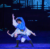 """Affectionate devotion-Dance drama """"The Dream of Maritime Silk Road"""". Dance drama """"The Dream of Maritime Silk Road"""" centers on the plot of two royalty free stock photo"""