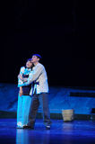 Affectionate embrace, looking forward to the future- Jiangxi opera a steelyard. Jiangxi opera a steelyard is adapted from a true story: the last century fortys Stock Photography