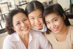 Affectionate family Royalty Free Stock Images