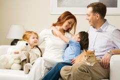 Affectionate family Royalty Free Stock Photos