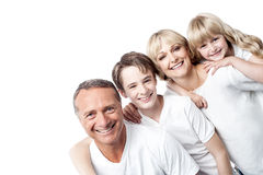 Affectionate family with children in row Stock Photography