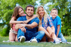 Affectionate family Royalty Free Stock Photography