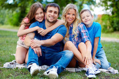 Affectionate family Stock Photography