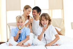 Affectionate family singing together Royalty Free Stock Image