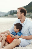 Affectionate father Royalty Free Stock Photos