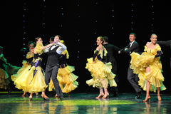 Affectionate gaze at-The French Cancan-the Austria's world Dance Stock Photo