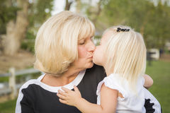 Affectionate Grandmother and Granddaughter At The Park Royalty Free Stock Photo